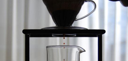 コーヒーを抽出中