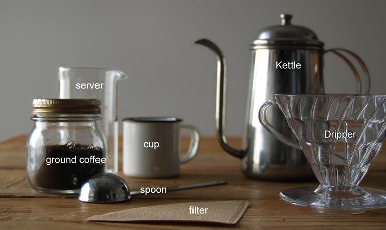 コーヒーをドリップする為の準備