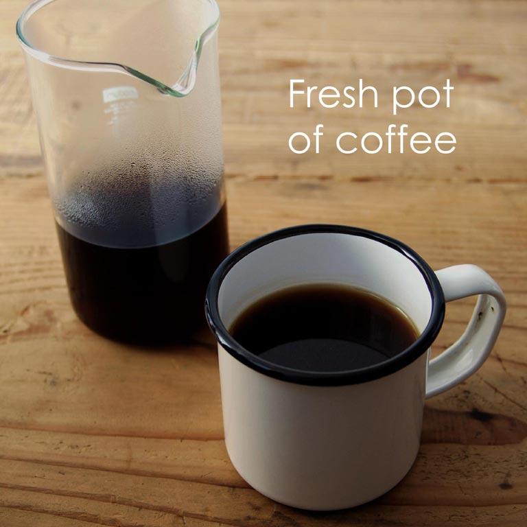 抽出したコーヒー