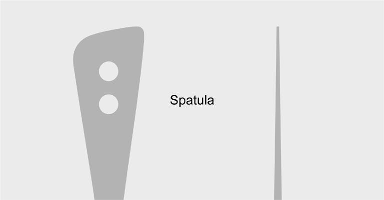 スパチュラのイラスト