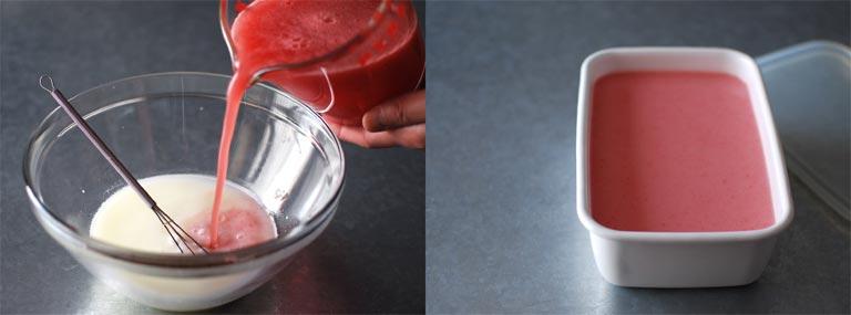 材料に牛乳を入れる