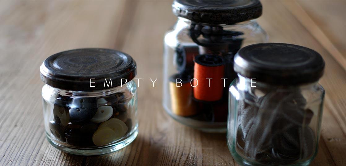 ジャム瓶をリメイクして小物入れとして使用