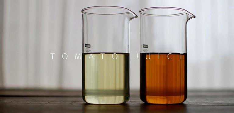 2種類の透明トマトジュース