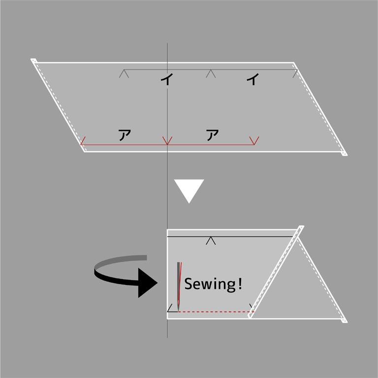 折り曲げ方の説明