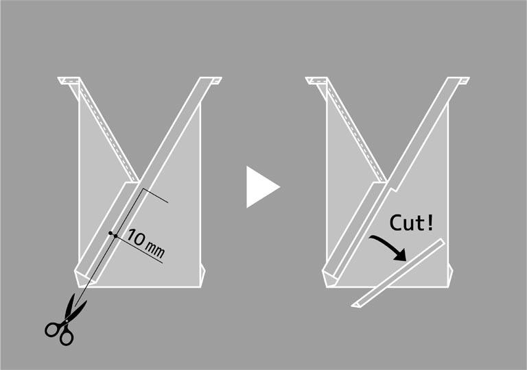 縫い代を半分にカットする方法