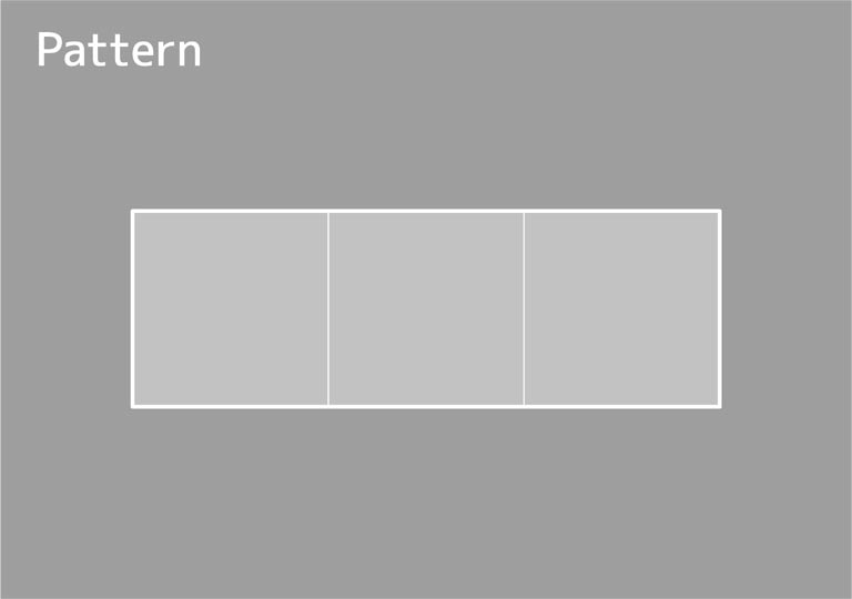 正方形タイプの型紙