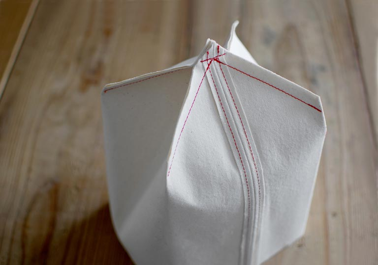 縫い代の先を縫う
