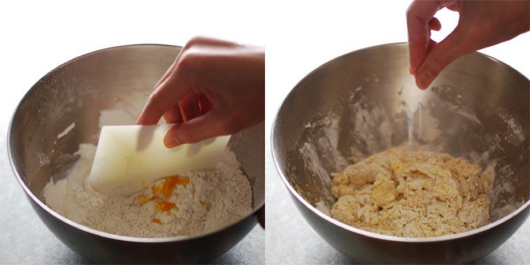 軽く混ぜてから塩を入れる