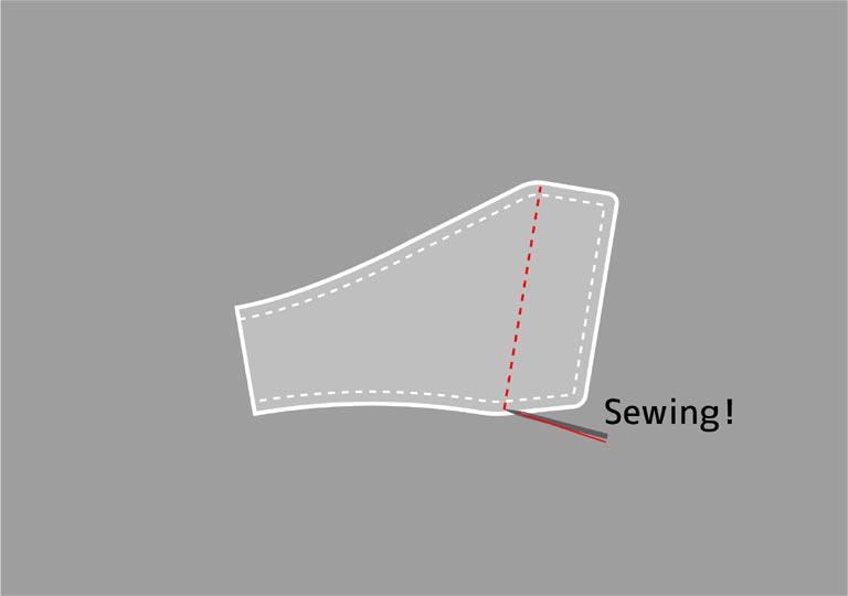端の丁度良い場所を縫う