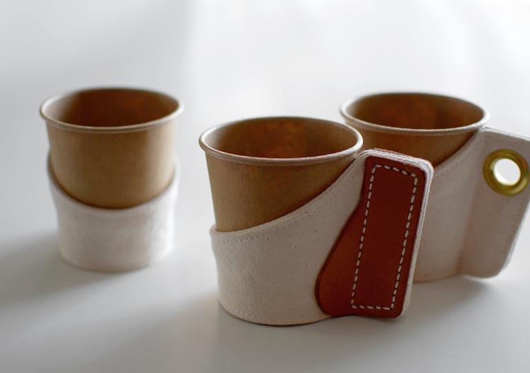 手作りした3種類のカップホルダー