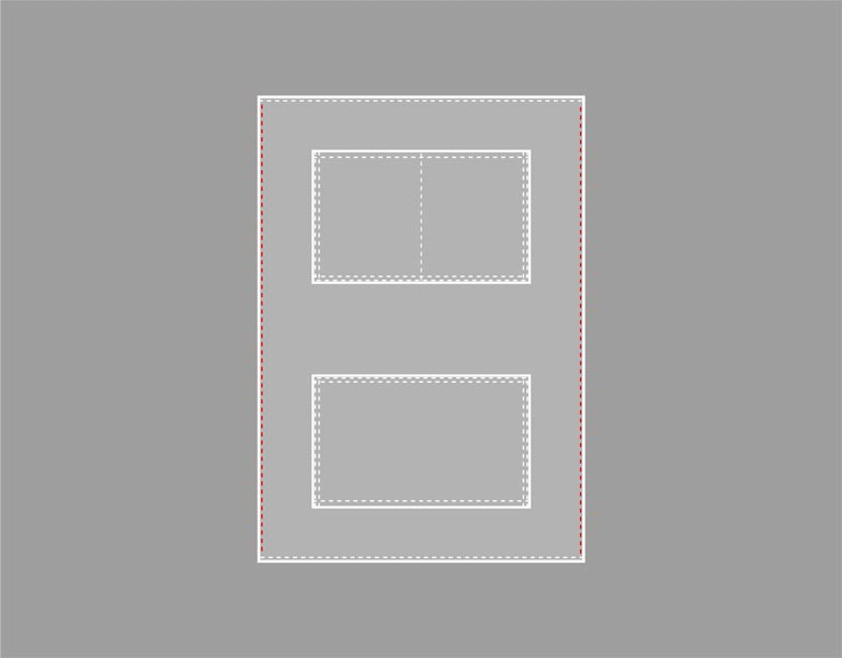 重ねた布端の縫い合わせる箇所