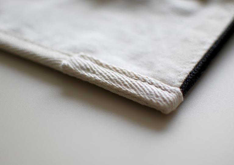 布テープ端の処理