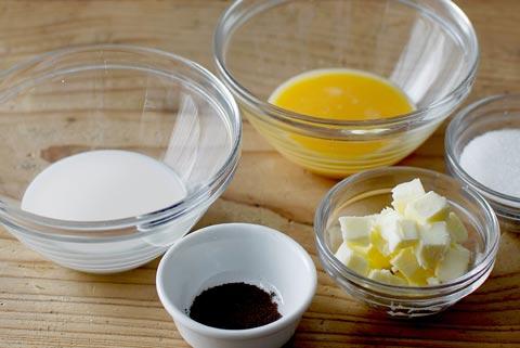 牛乳と卵と砂糖とバター