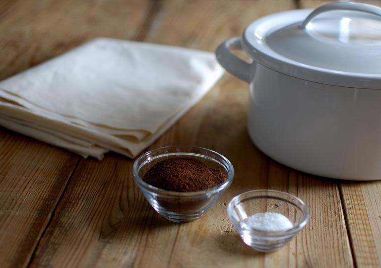 シーチングとコーヒーとミョウバン