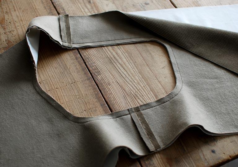 表地と裏地を合わせて縫う