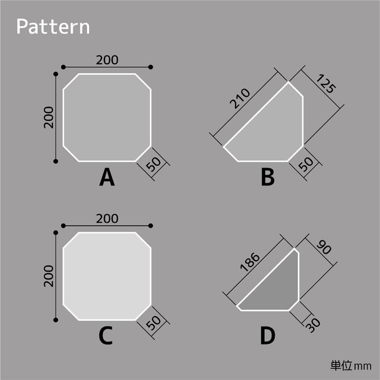 材料の寸法を記した図面